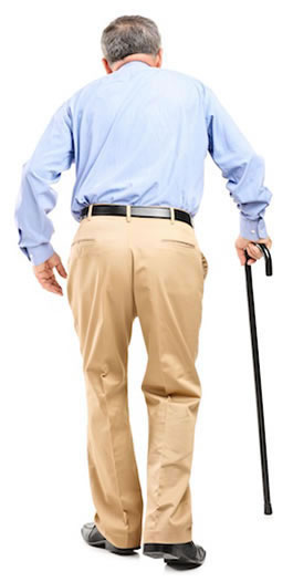 Old Man Walking After Getting Arthritis Chiropractic Care