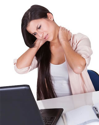 Brunette Woman In Need Of Chiropractic Care For Herniated Disc