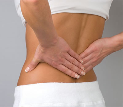 Lady with lower back pain