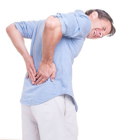 Pained Man Lacking Chiropractic Care For Herniated Disc