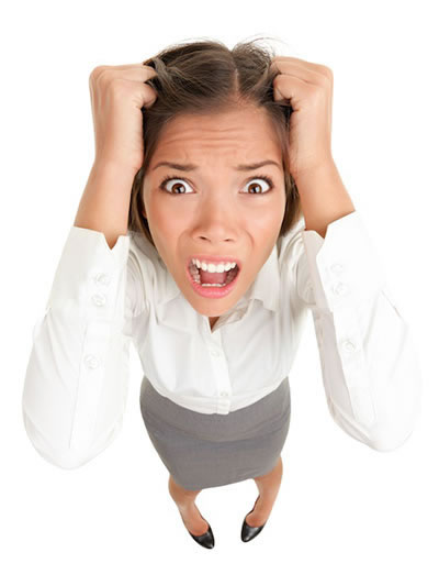 Woman Freaking Out In Need Of Stress Chiropractic Therapy